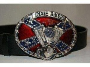 Dixie Biker Belt Buckle