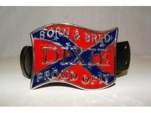 Dixie Born Bred Belt Buckle