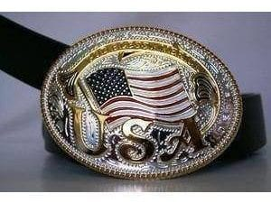 God Bless America Belt Buckle