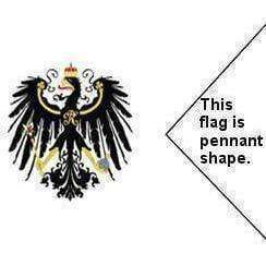 Kingdom of Prussia War Pennant Flag 3 X 5 ft. Standard