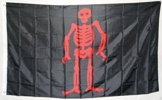 Pirate Edward Low, Red Skeleton Flag 3 X 5 ft. Standard