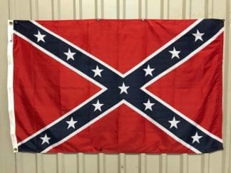 vendor-unknown Rebel Flags & Confederate Flags Rebel Confederate Battle Flag, Dyed Nylon Flag 3 ft. x 5 ft. (USA MADE)