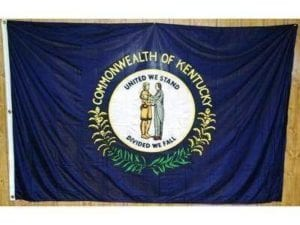 Kentucky Knitted Nylon 5 x 8 Flag