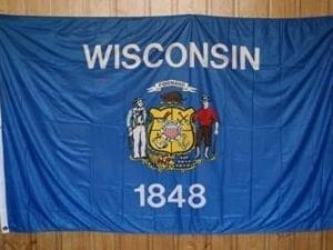 Wisconsin Knitted Nylon 5 x 8 Flag