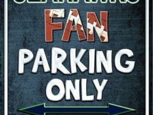Seahawks Fan Parking Only Parking Sign (USA MADE)
