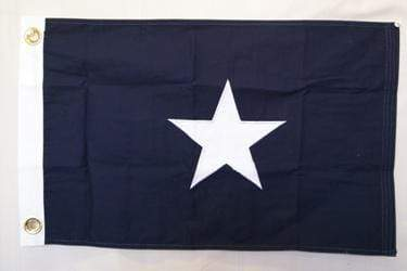 vendor-unknown Texas Flags Bonnie Blue Cotton Flag 16 x 24 inch