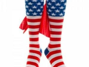 American Flag Cape Knee High Socks – Unisex