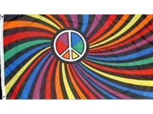 Rainbow Peace Swirl Flag Made in USA Outdoor