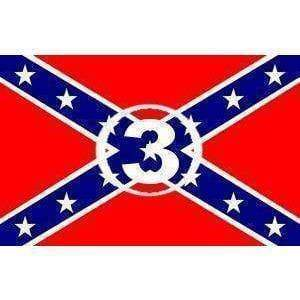 vendor-unknown Rebel Flags & Confederate Flags Rebel #3 (Number 3) Flag 3 X 5 ft. Standard