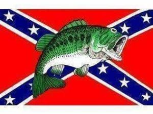 Rebel Fish Flag 3 X 5 ft. Standard