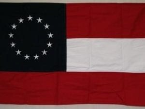 1st National Confederate – CSA – Stars and Bars – 13 Stars – Cotton – 2 x 3 ft.